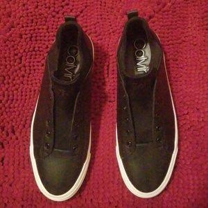 Size 9 Calvin Klein Black Fashion Sneakers